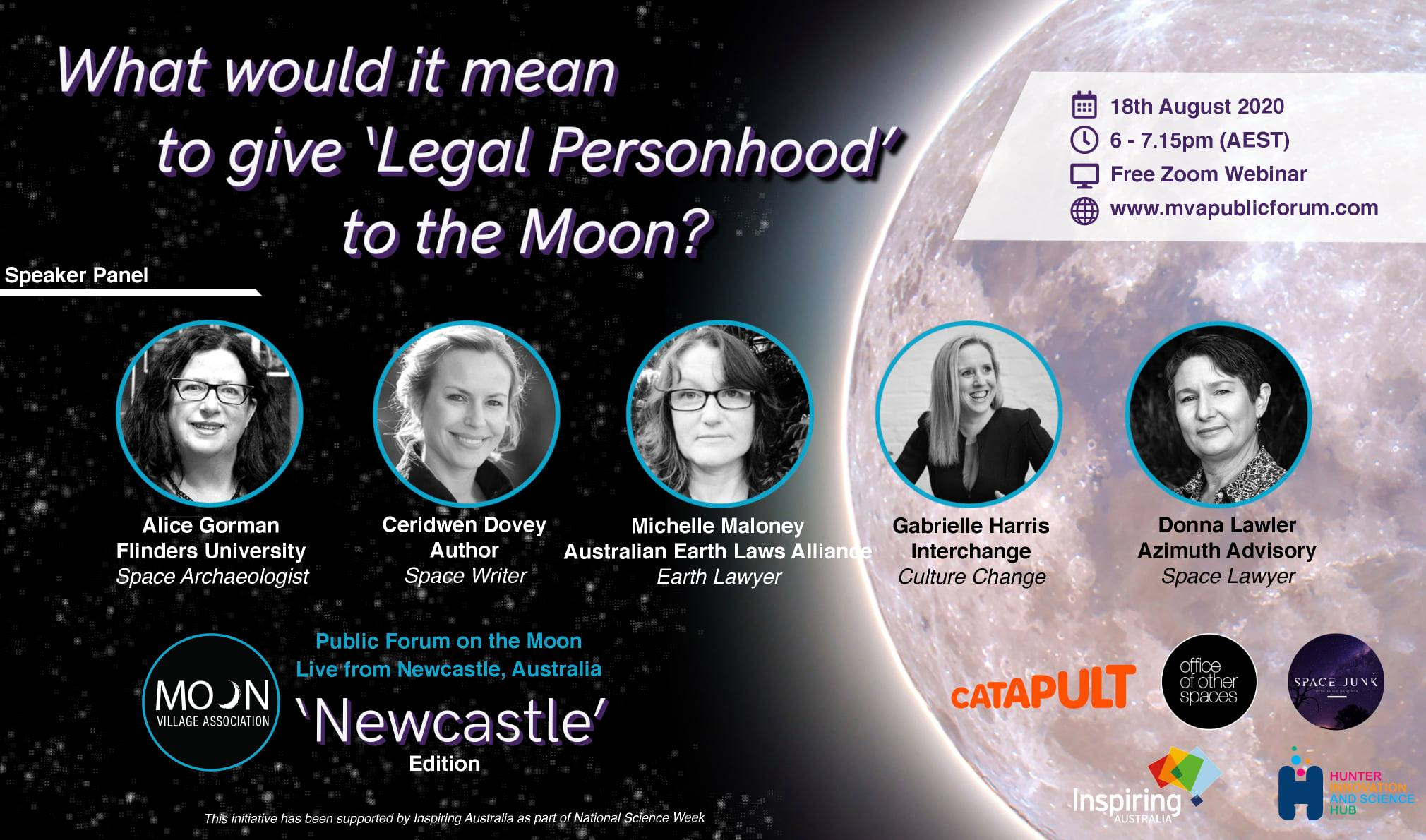 Webinar: What would it mean to give 'Legal Personhood' to the Moon?