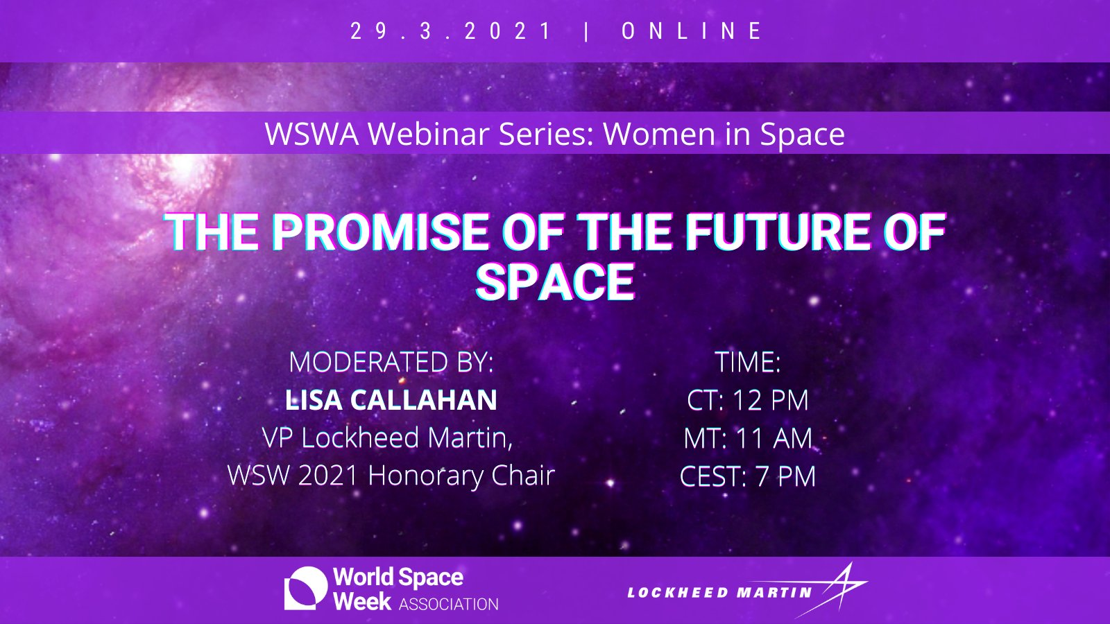 WSWA Webinar Series: Women in Space | The Promise of the Future of Space