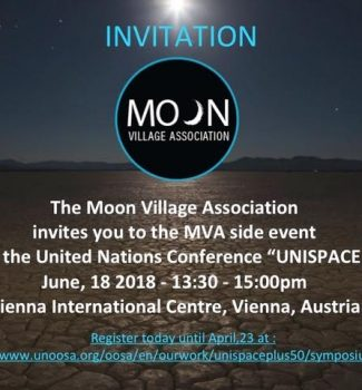 Save the Date: Invitation to MVA Side event during UNISPACE+50, June 18, 2018